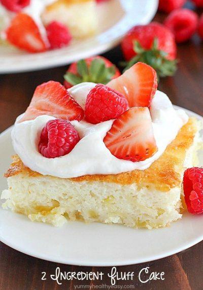 2 Ingredient Fluff Cake