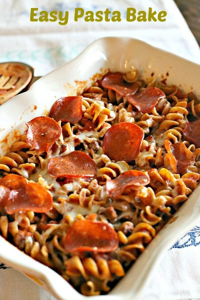 Easy Kid Friendly Pasta Bake