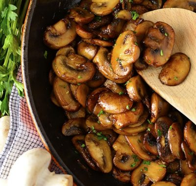 Garlic Butter Soy-Glazed Mushrooms