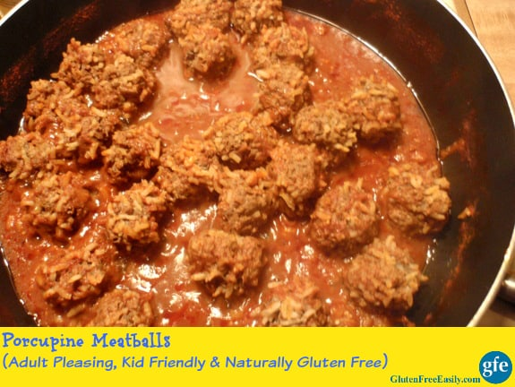 Kid-Friendly Porcupine Meatballs (Gluten Free, Dairy Free, Egg Free)