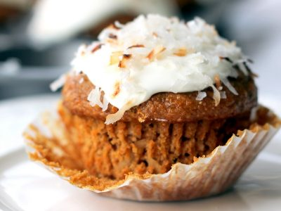 Healthy Whole Grain Carrot Coconut Morning Glory Muffins
