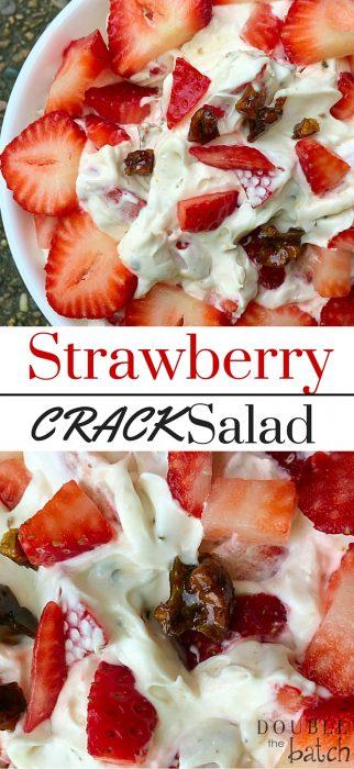 Strawberry Dessert Salad (with Toffee)