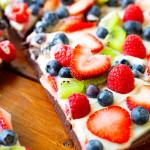 Fruity Brownie Dessert Pizza