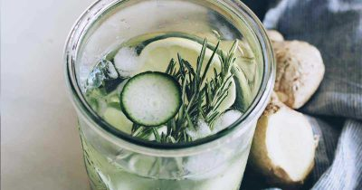 Superfood Flat Belly Cucumber Detox Water to Curb Cravings