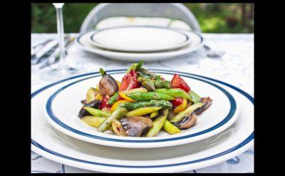 Sautéed Asparagus, Peppers and Mushrooms