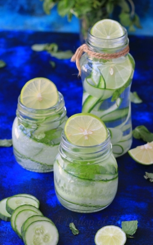 Cucumber Lemon And Mint Water