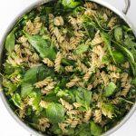 Gluten Free Kale And Spinach Pesto Pasta