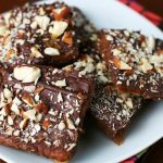 Almond Chocolate Toffee Crunchies