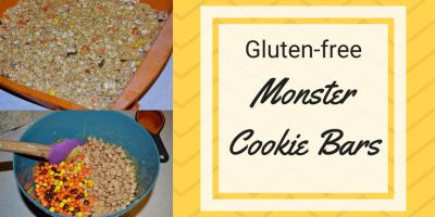 Gluten-free Monster Cookie Bars