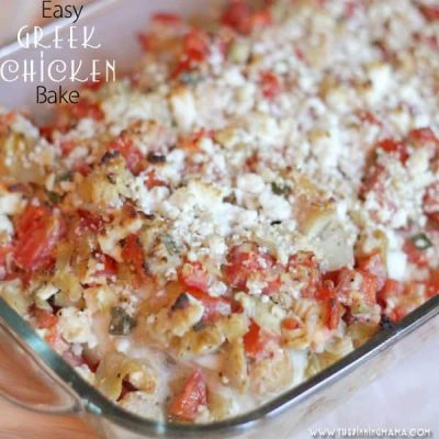 {Easy Dinner Recipe} Greek Chicken Bake