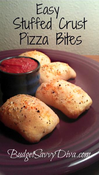 Stuffed Crust Pizza Snacks