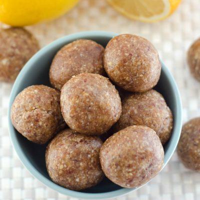 Healthy Lemon Snack Bites