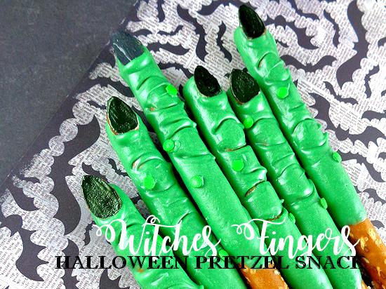 Witches Fingers Halloween Pretzel Snack
