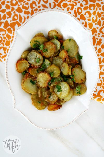 Garlic and Shallot Fingerling Potatoes (Vegan, Gluten-Free, Paleo-Friendly*)