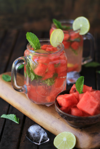 Detox Treatment For Weight Loss With Watermelon, Mint And Lime Water