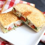Roasted Red Pepper and Pesto Grilled Cheese Sandwiches