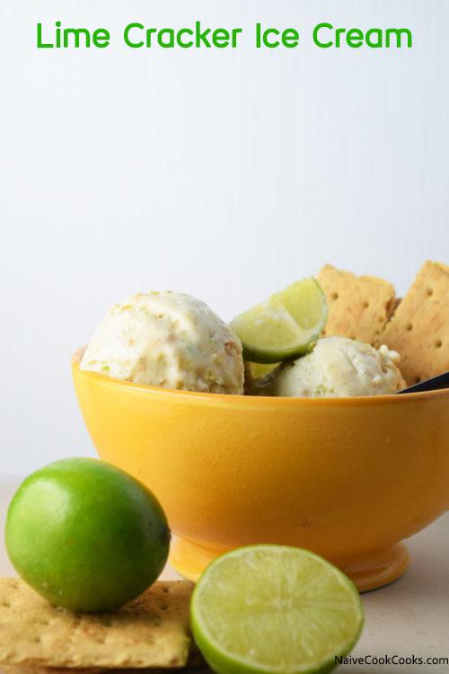 No Churn Lime Cracker Ice Cream