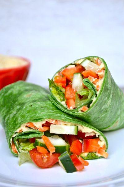 Vegetable Hummus Wrap