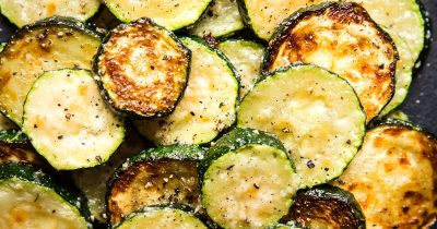 Roasted Zucchini with Parmesan