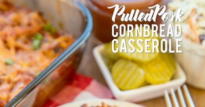 Pulled Pork Cornbread Casserole