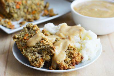 Christmas Chickpea-Lentil Loaf, Vegan & Gluten-Free
