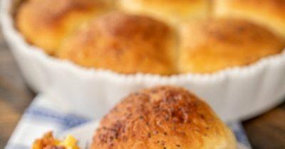 Glazed Breakfast Biscuit Bombs