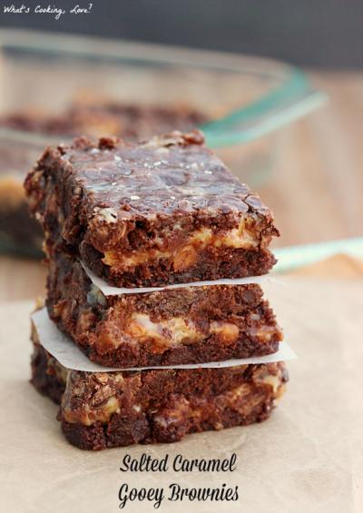 Salted Caramel Gooey Brownies