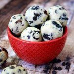 Chocolate Chip and Cranberry Cookie Dough Balls