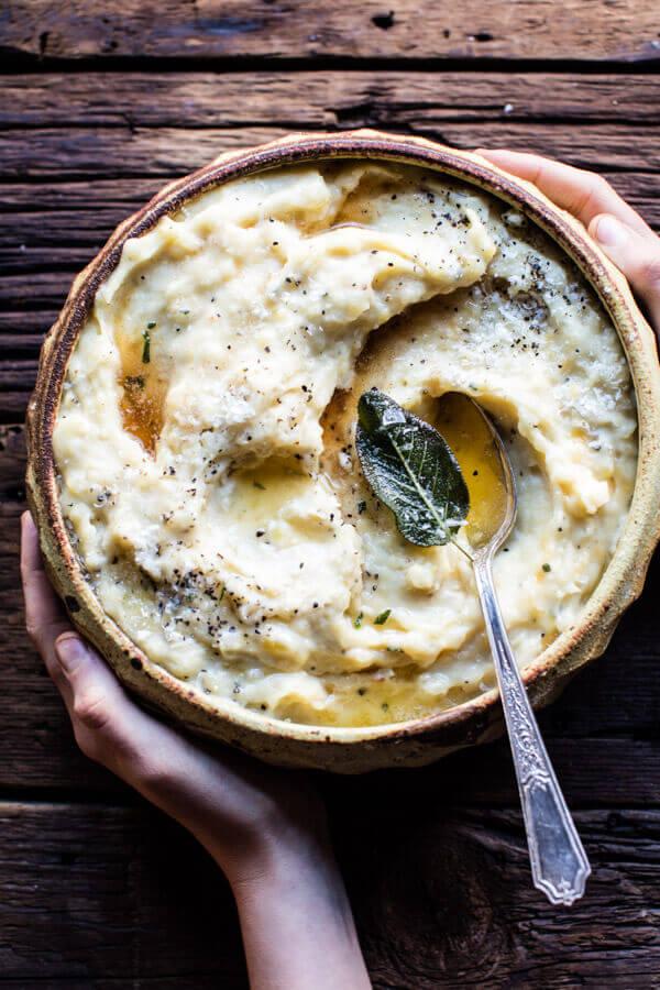 Crockpot Three Cheese Mashed Potatoes.