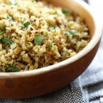 "Roasted Cauliflower ""Rice"" with Garlic and Lemon"