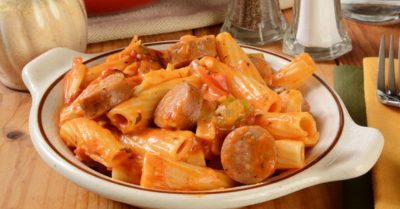 Pepper and Sausage Rigatoni